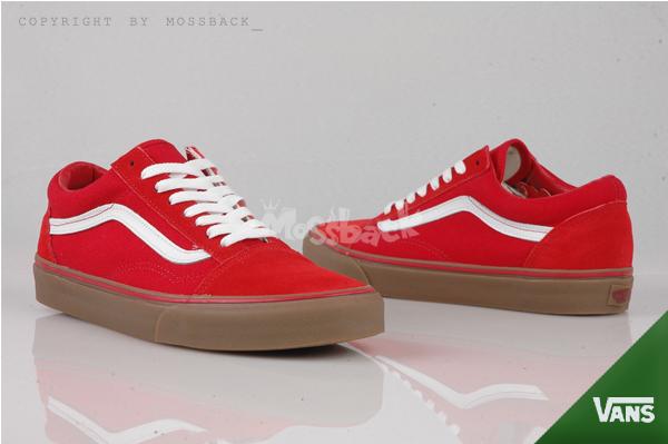 『Mossback』VANS OLD SKOOL 經典款 滑板鞋 低筒 麂皮 膠底 紅色(男女)NO:52010515