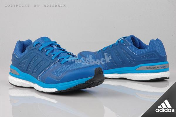 『Mossback』ADIDAS SUPERNOVA SEQUENCE BOOT 8 慢跑鞋 藍白(男)NO:B34589