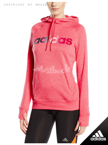 『Mossback』ADIDAS ULT FLC PO LOGO 刷毛 帽T 粉色(女)NO:AB9883