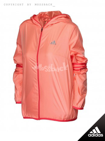 『Mossback』ADIDAS RESPONSE 夾克 風衣 連帽 外套 橘紅(女)NO:AO2928