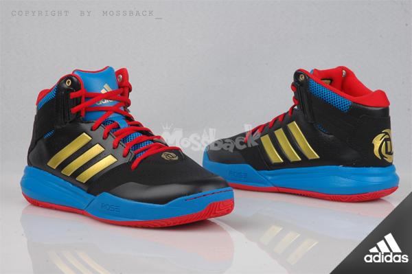 『Mossback』ADIDAS D ROSE 773 IV TD 運動 籃球鞋 黑藍紅(男)NO:AQ8489