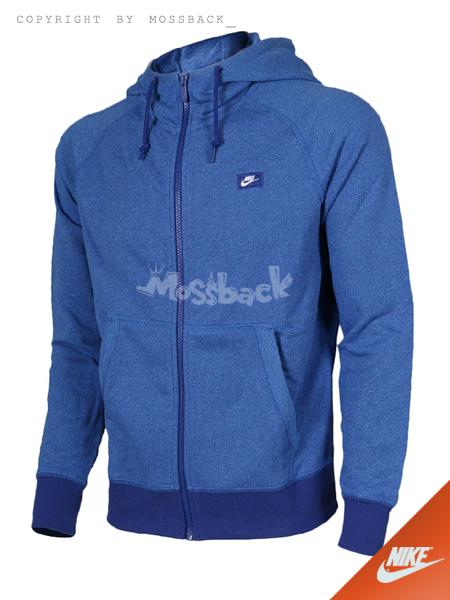 『Mossback』NIKE AW77 SHOEBOX FULL-ZIP 連帽 外套 藍色(男)NO:727396-455