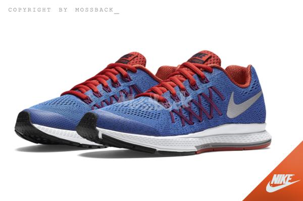 『Mossback』NIKE ZOOM PEGASUS 32 GS 編織 慢跑鞋 藍紅(大童)NO:759968-404