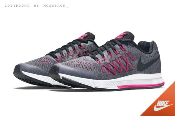 『Mossback』NIKE ZOOM PEGASUS 32 GS 編織 慢跑鞋 灰粉(大童)NO:759972-006