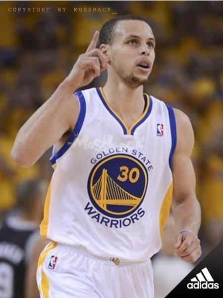 『Mossback』ADIDAS NBA CURRY #30 勇士隊 主場 球衣 白色(男)NO:A45915