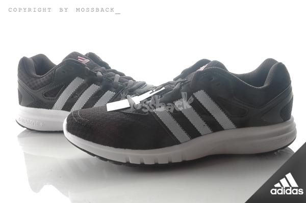 『Mossback』ADIDAS GALAXY 2 W 網狀 輕量 慢跑鞋 黑白銀(女)NO:AF5576