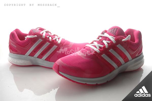 『Mossback』ADIDAS QUESTAR TF W BOOST 訓練 緩震 跑鞋 粉白(女)NO:AQ6638