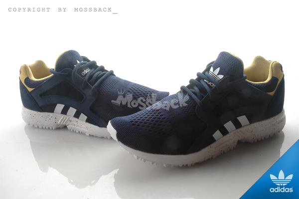 『Mossback』ADIDAS RACER LITE EM W 輕量 復古 慢跑鞋 藍白黃(女)NO:S75034