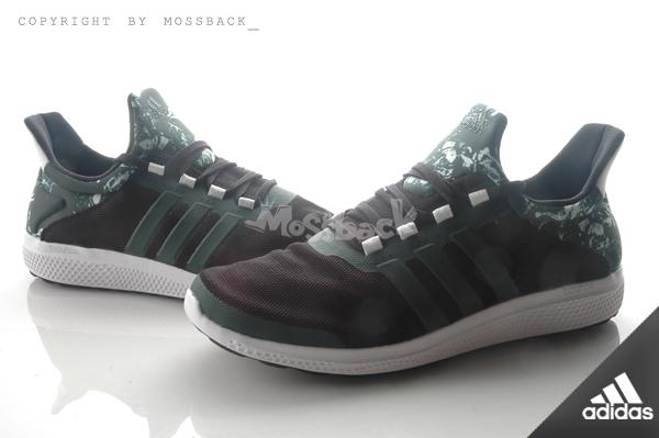 『Mossback』ADIDAS CC SONIC M 襪套 輕量 透氣 慢跑鞋 黑墨綠迷彩(男)NO:S78245
