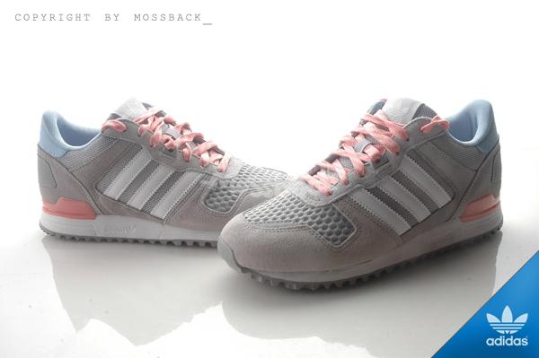 『Mossback』ADIDAS ZX 700 W 慢跑鞋 灰粉藍(女)NO:S78941