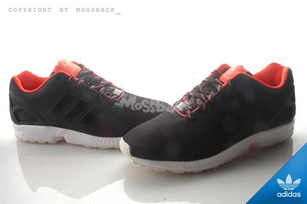 『Mossback』ADIDAS ZX FLUX 輕量 透氣 慢跑鞋 黑螢光橘(男)NO:S79099
