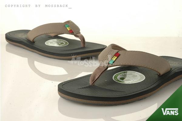 『Mossback』VANS NEXPA SYNTHETIC 布帶 防滑 拖鞋 人字拖 黑棕(男)NO:41062139