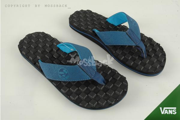 『Mossback』VANS NEXPA CHECK 馬賽克 立體格紋 防滑 拖鞋 人字拖 黑藍(男)NO:41062141