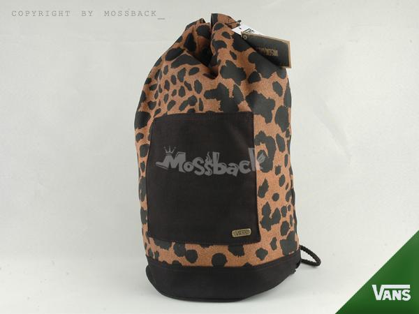 『Mossback』VANS ROZELLE BAG 後背包 線肩 豹紋 筒包 咖啡黑NO:462447BKDT