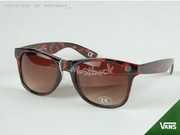 『Mossback』VANS復古太陽眼鏡超夯豹紋鏡架 潮流穿搭精品 亮面 棕色NO:462706BN