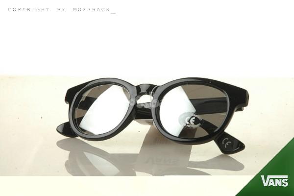 『Mossback』VANS復古太陽眼鏡 亮面鏡架 反光鏡片 潮流穿搭精品 黑色NO:562808BK