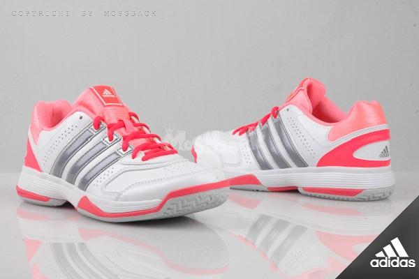 『Mossback』ADIDAS RESPONSE ASPIRE STR W 皮革 網球鞋 白銀粉(女)NO:B40695