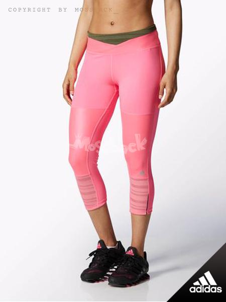 『Mossback』ADIDAS SN 3/4 TIGHT W 七分 緊身褲 內搭褲 粉紅色(女)NO:M62450