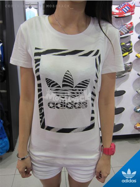 『Mossback』ADIDAS ZEBRA TRF TEE 斑馬 短袖 T恤 白黑(女)NO:M69999