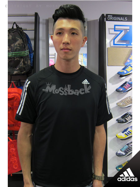 『Mossback』ADIDAS CLIMACOOL 透氣 涼爽 慢跑 短T 黑色(男)NO:S18243