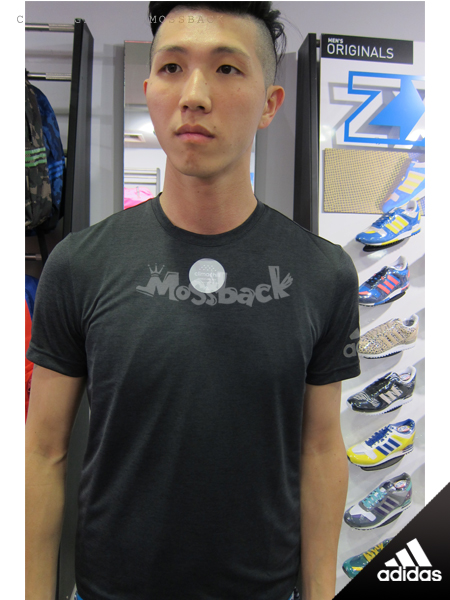 『Mossback』ADIDAS CLIMACHILL 涼爽 透氣 排汗 短T 黑藍(男)NO:S26994