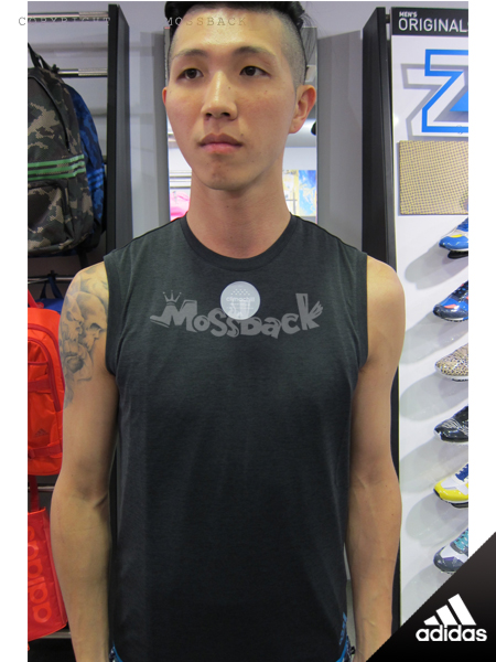 『Mossback』ADIDAS CLIMACHILL 涼爽 透氣 排汗 背心 黑藍(男)NO:S27003