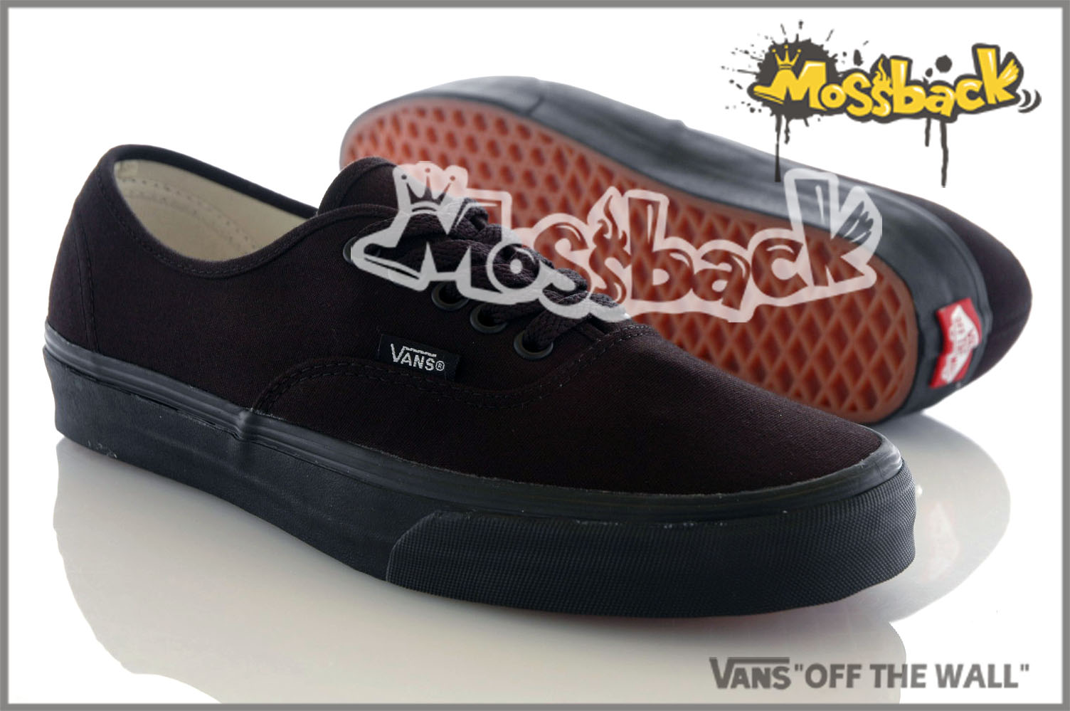 『Mossback』VANS ATHENTIC 懶人鞋 復古 基本款 百搭 紅標 全黑NO:C010111
