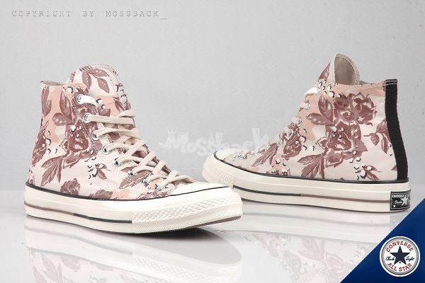 『Mossback』CONVERSE CTAS 1970 帆布鞋 高筒 花卉 淺褐色(男女)NO:148553C