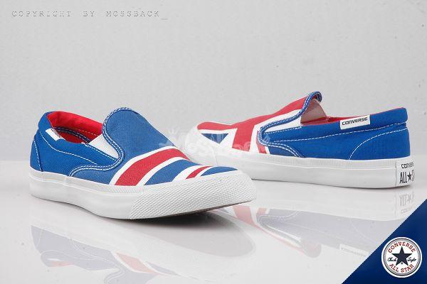 『Mossback』CONVERSE ALL STAR CORE SLIP 英國 國旗 懶人鞋 白藍紅(男女)NO:148695C