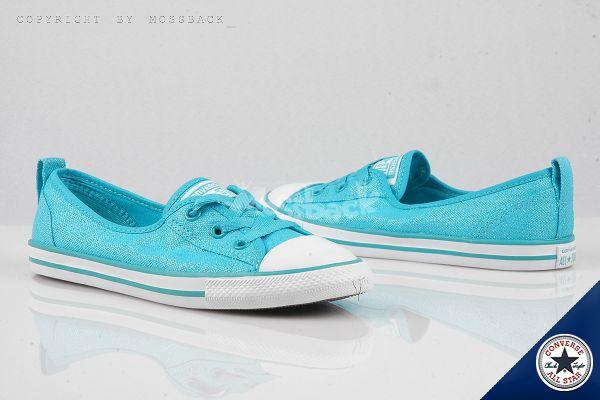 『Mossback』CONVERSE CTAS BL 薄底 低筒 娃娃鞋 藍綠(女)NO:547159C