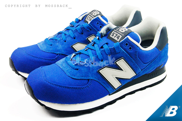 『Mossback』NEW BALANCE 麂皮 慢跑 復古 藍色(男女)NO:ML574PCB