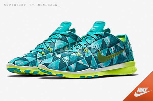 『Mossback』NIKE W FREE 5.0 TR 訓練鞋 慢跑鞋 菱形 綠黃 (女)NO:704695-402