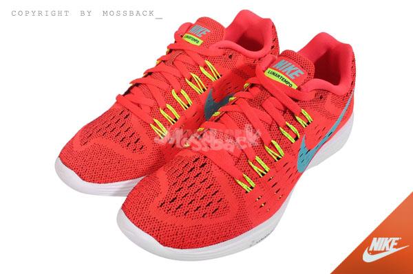 『Mossback』NIKE W LUNAR TEMPO 編織 慢跑鞋 橘紅(女)NO:705462-600