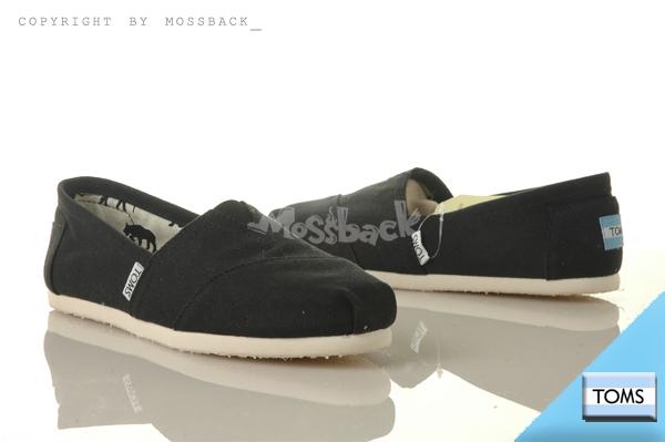 『Mossback』TOMS CLASSICS CANVAS 帆布 休閒 懶人鞋 平底 黑色(女)NO:001001B07BLK