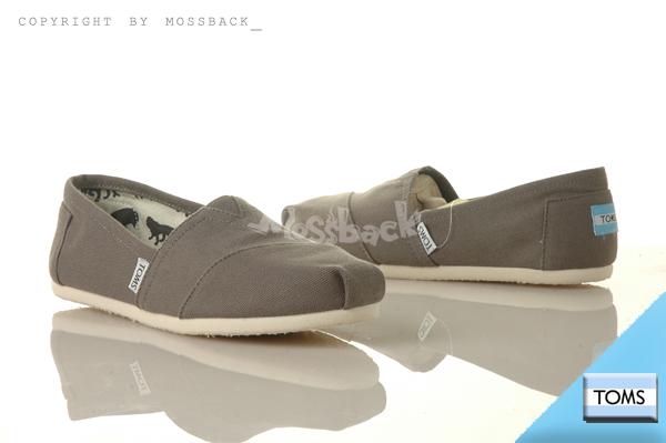 『Mossback』TOMS CLASSICS CANVAS 帆布 休閒 懶人鞋 平底 灰色(女)NO:001001B07GREY