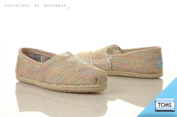 『Mossback』TOMS CLASSICS 休閒 懶人鞋 平底 麻布色 多彩(女)NO:10001889