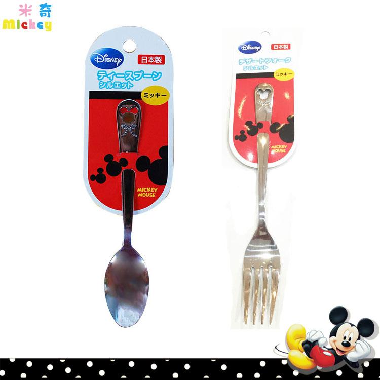大田倉 日本進口正版 迪士尼 Disney 米奇Mickey 不鏽鋼 小湯匙 大叉子 不鏽鋼餐具