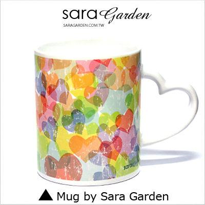 客製 愛心 彩繪 馬克杯 Mug 韓風 馬卡龍 刷色 愛心 咖啡杯 陶瓷杯 杯子 Sara Garden手作【M0320029】