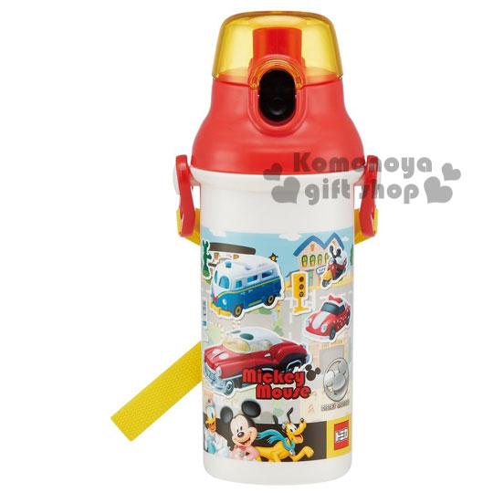 特價399↘〔小禮堂〕迪士尼 TOMICA 日製直飲式水壺《紅白.汽車.480ml》