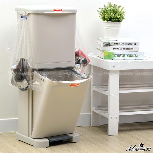 日本MAKINOU收納筒|雙層分類垃圾筒-台灣製|塑膠收納箱置物箱抽屜收納籃回收筒