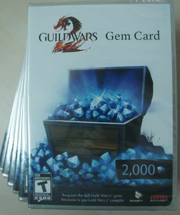 (現貨全新) 激戰2 遊戲點卡 2000 點 Guild Wars 2 2000 Gem Card 盒裝實體卡