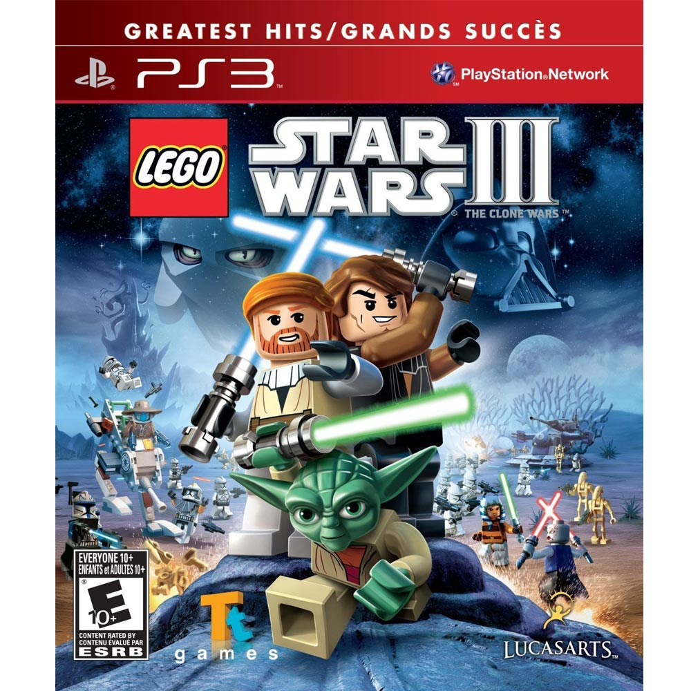 PS3 樂高星際大戰 3:複製人戰爭 英文美版 (附贈道具密碼表) LEGO Star Wars III