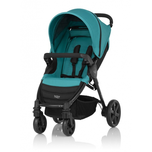 Britax - B-Agile單手收豪華四輪手推車 (翡翠藍) 加購Britax - Baby-Safe提籃享特價優惠!