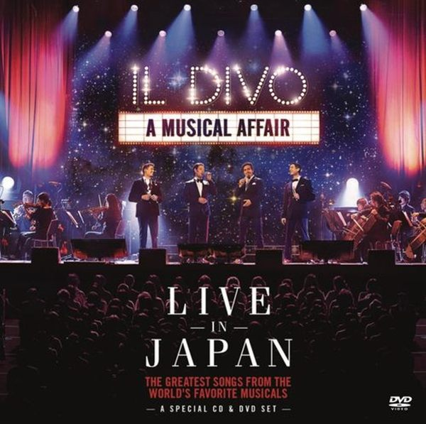 美聲男伶 情定百老匯 2014日本演唱會現場實況 CD附DVD IL DIVO A Musical Affair Live In Japan (音樂影片購)