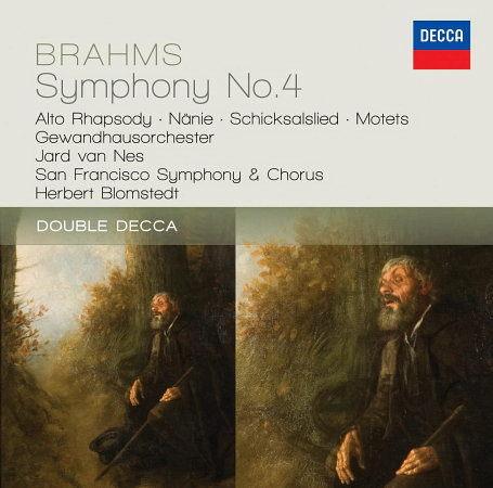 布拉姆斯:第四號交響曲 女低音狂想曲 CD Brahms: Symphony No.4; 3 Motets, op.110 - Alto Rhapsody; Schicksalslied