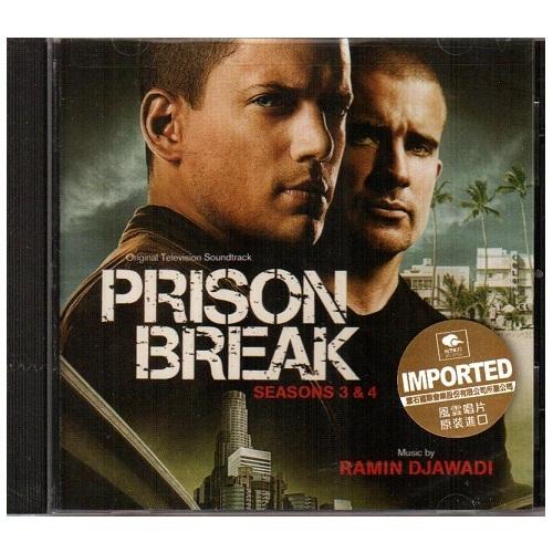 越獄風雲 第3 & 4季 電視原聲帶CD OTS Prison Break: Seasons 3 & 4 Ramin Djawadi (音樂影片購)