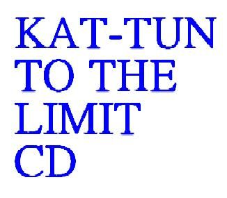 KAT-TUN TO THE LIMIT CD 重饒舌搖滾 WALKING IN THE LIGHT 各自的天空 SPIRIT (音樂影片購)