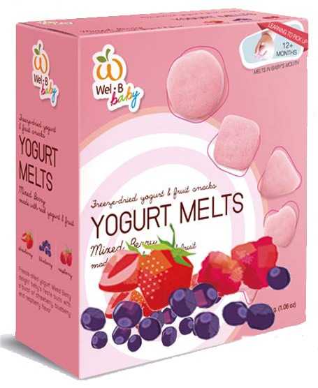 寶寶專用 Wel.B baby 綜合莓果優格水果乾25g 適用年齡12個月以上的嬰幼兒