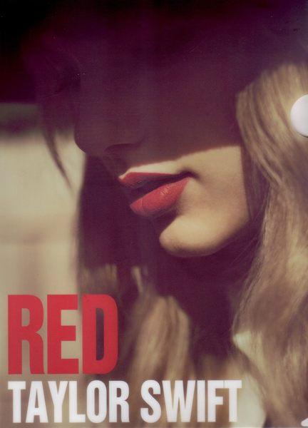泰勒絲 RED紅色 資料夾 文件夾 L型 (音樂影片購)