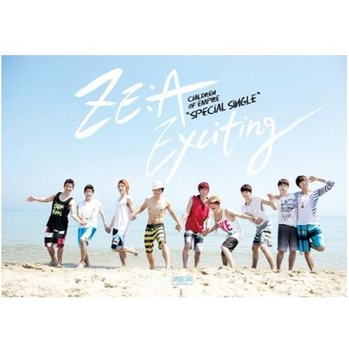 ZE:A帝國之子 Exciting 台灣獨占B盤CD附DVD CD+MV&幕後花絮DVD (音樂影片購)